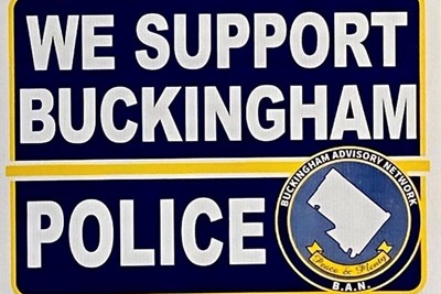"""We Support Buckingham Police"" signs have officially arrived!"